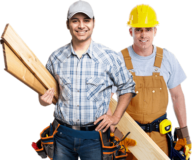 Two man workers from woodvendors
