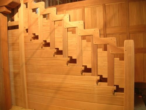 African Mahogany Staircase