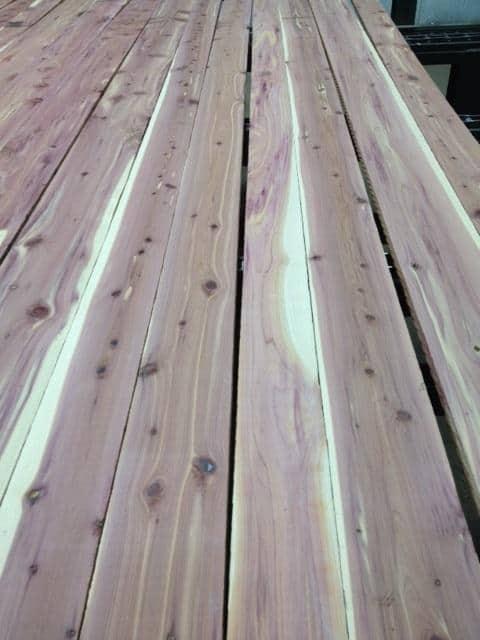 #1 & Better Grade Aromatic Red Cedar Lumber