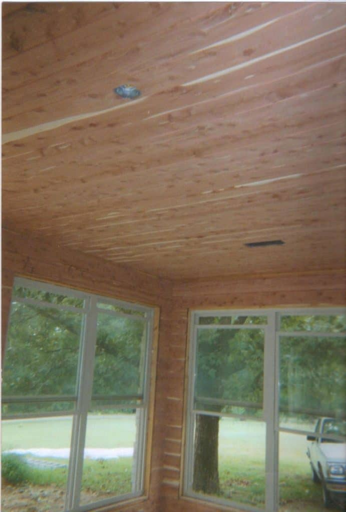 Aromatic Cedar T&G Roof Panels