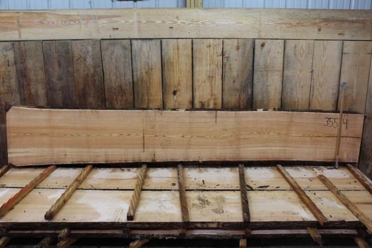 Slab 355-4, Rough Size: 2″ x 20″-26″ x 12′ $750