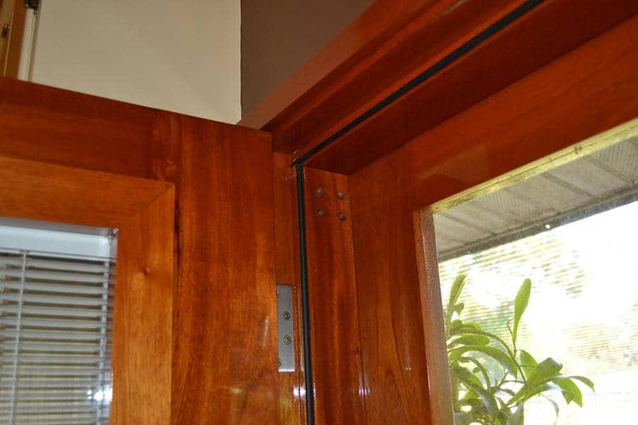 South American Mahogany Door Close Up