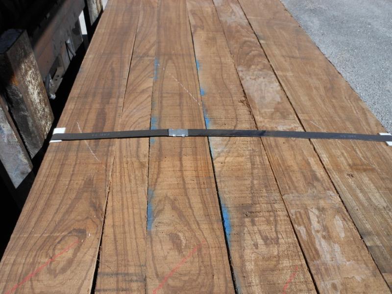 Flat sawn rough Zebrawood Lumber