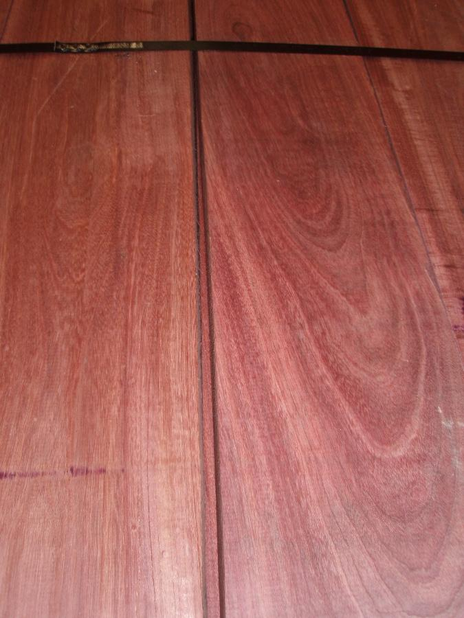 Surfaced Purpleheart Lumber ready to ship