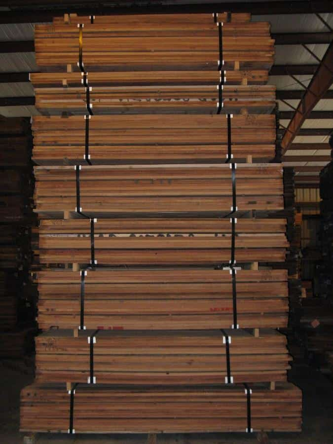 Stacks of Santos Mahogany Lumber