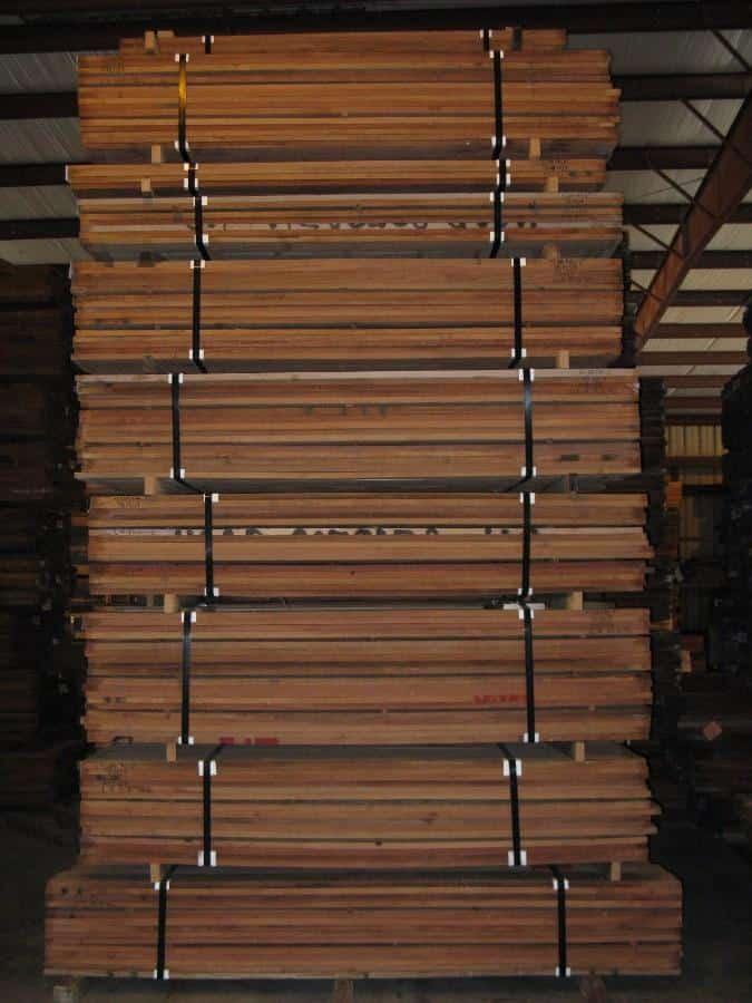 Stacks of Santos Mahogany Lumber