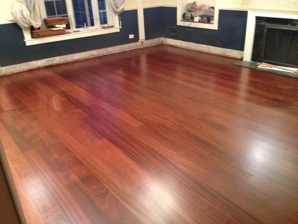 Custom Sapele Floor Finished