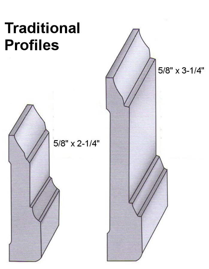 Traditional Red Oak Profiles