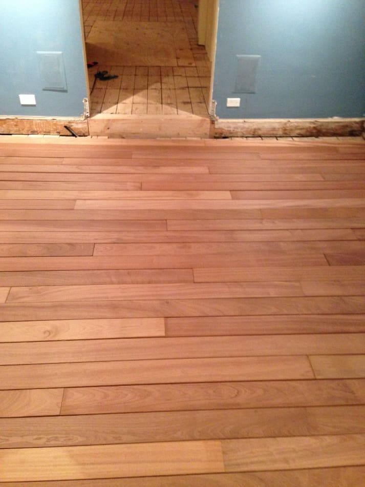 Unfinished Sapele Floor Installed