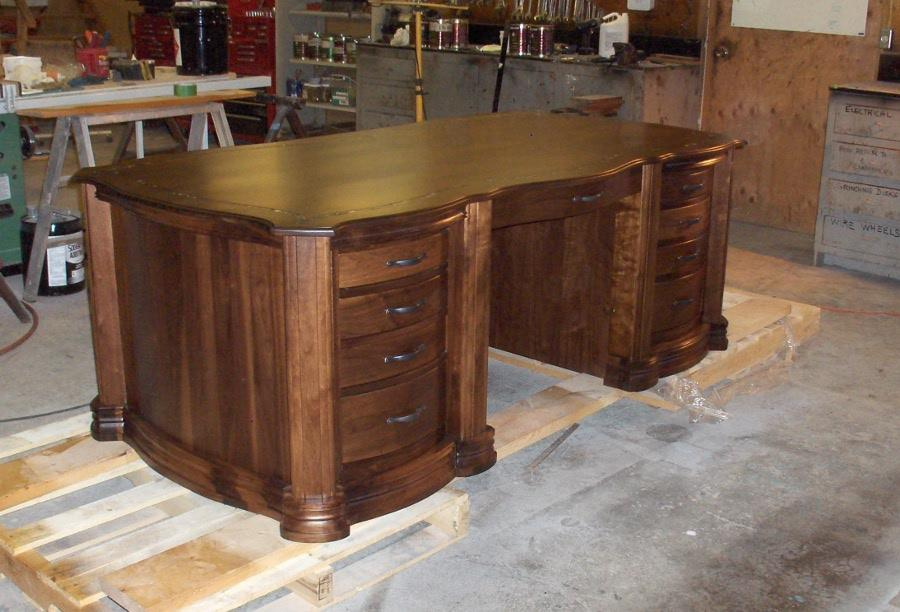 Walnut Executive Desk with Marble Inlay - Thanks Harvey T!