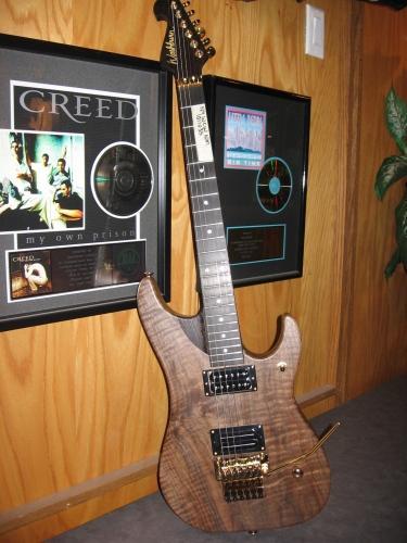 Wenge Guitar Neck with Walnut Body