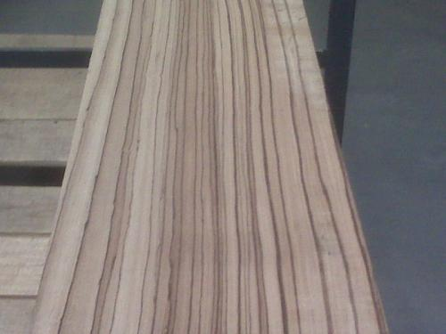 QS Zebrawood Lumber with Heavy Vertical Stripes