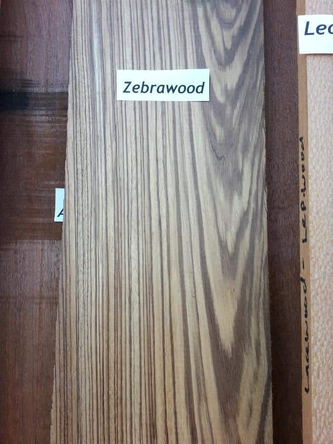 Zebrawood with Vertical and Cathedral Grain- Flat Sawn