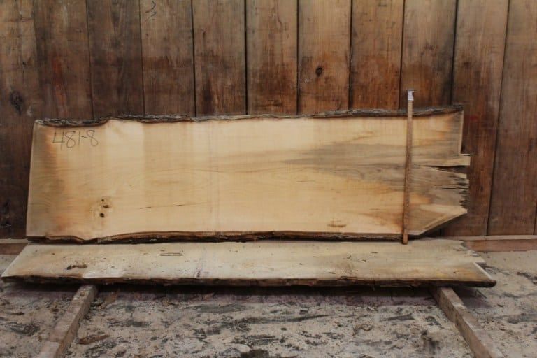 slab 481-8, rough size: 2″ x 25″-29″ x 8′ $675