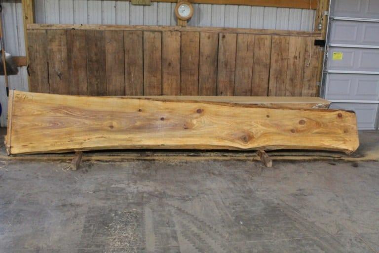 slab 517-2, rough size: 2.5″ x 20″-34″ x 16′ $1075