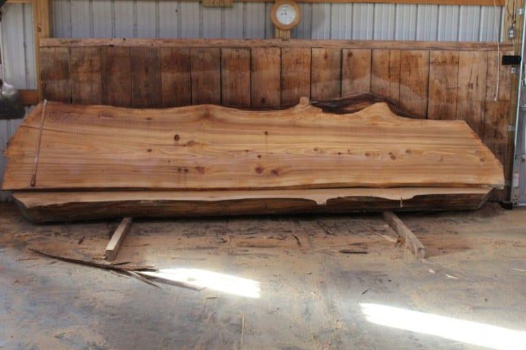 slab 517-7, rough size: 2.5″ x 27″-35″ x 14′ $1525