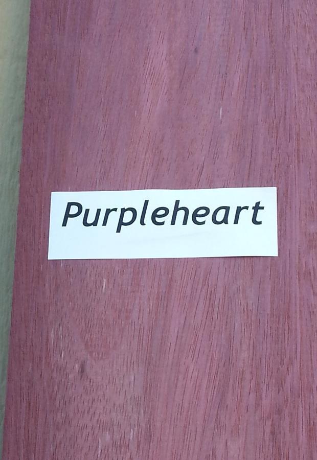 Purpleheart Board Close Up