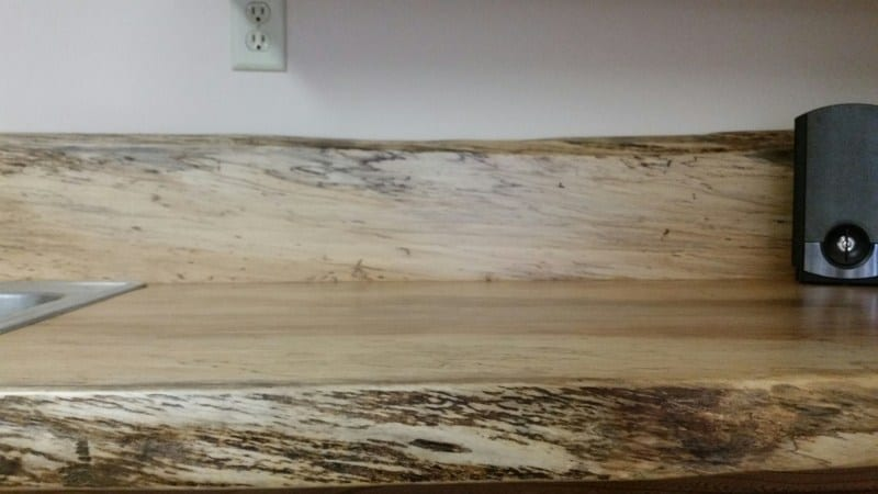 spalted maple counter and backsplash