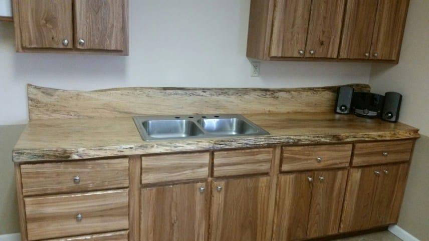 spalted maple kitchen