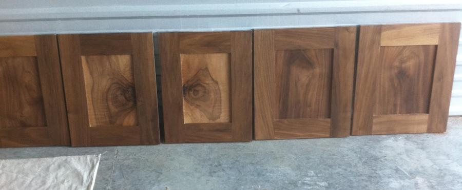 Unfinished Walnut doors