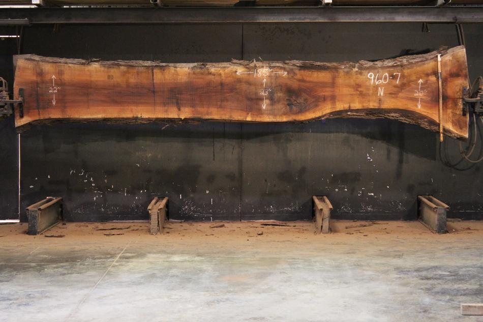 slab 960-7, rough size: 2.5″ x 16″-31″ x 15′ $1250