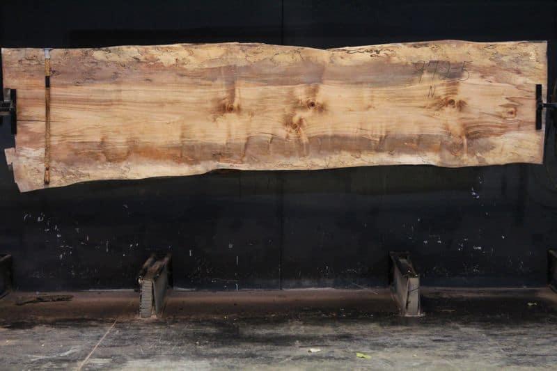 slab 972-5 surfaced size 1.75″ x 31-37″ avg. 33″ x 11′ $1050  SALE PENDING PO 21-8007 2-21-21