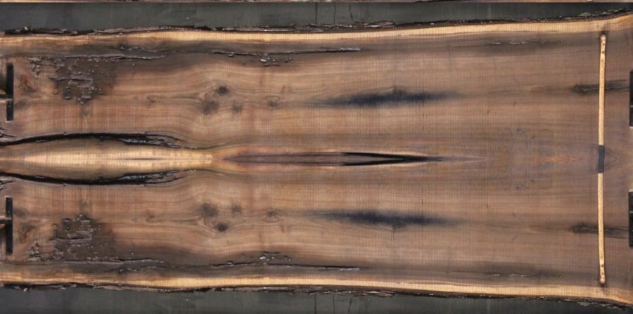 walnut 902-5&6 simulation, approx. size 2″ x 50″ x 12′ Both Rough Slabs $2400