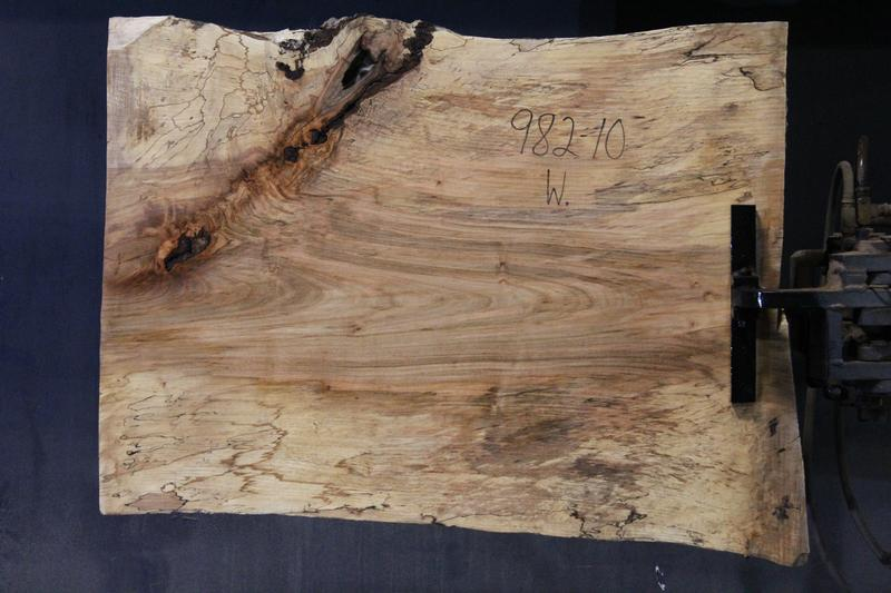 slab 982-10 Wide Side. Surfaced size 1.38″ x 28-32″ avg. 29″ x  3′ $395