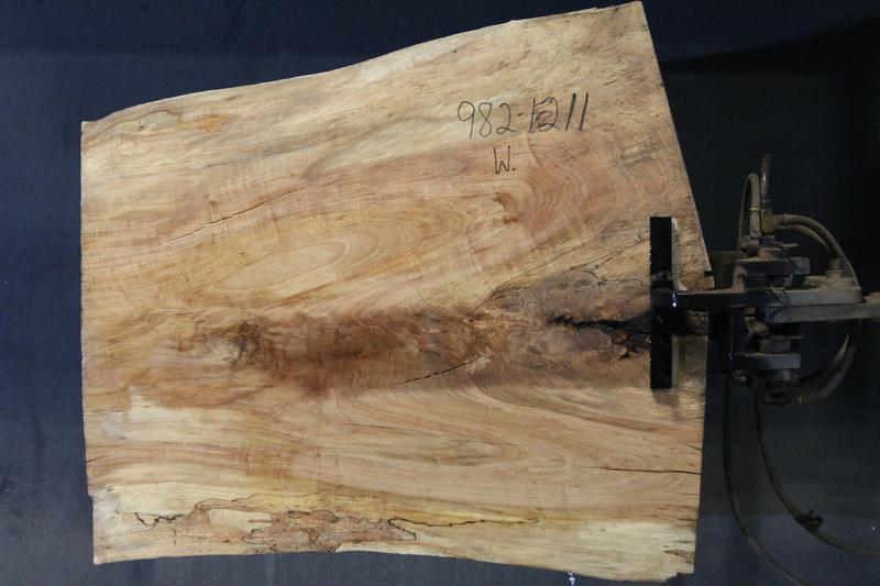 slab 982-11 Wide Side. Surfaced size 1.25″ x 30-39″ avg. 35″ x  3′ $395