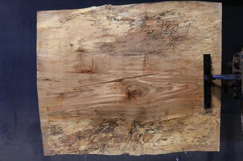 slab 982-9 Wide Side. Surfaced size 1.5″ x 31-33″ avg. 32″ x  3′ $395