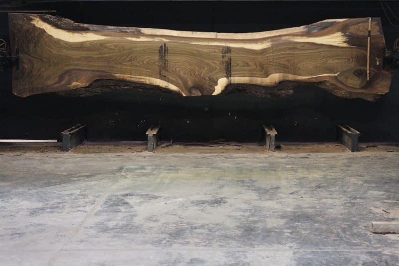 Walnut Slab 813-9, rough size  2.5″ x 26-48″ avg. 28″ x  18′ $1800