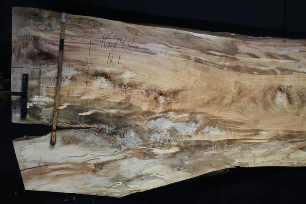 Spalted Maple Slab 1024-5, Narrow Face, Left Side  SALE PENDING PO 21-8007 1-31-21