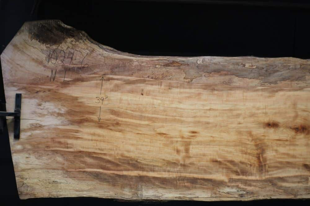 Spalted Maple Slab 1024-6, Narrow Face, Left Side  SALE PENDING PO 21-8007 1-31-21
