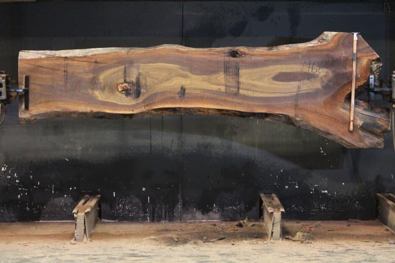 Walnut Slab 968-10,  rough size 2″ x 20-38″ avg. 23″ x  11′ $675