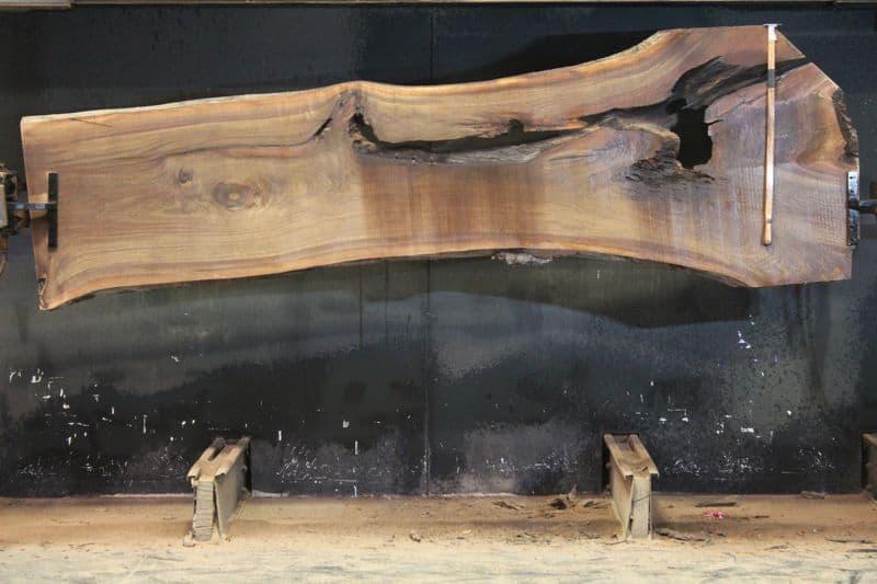 Walnut Slab 968-8,  rough size 2″ x 27-43″ avg. 30″ x  11′ $750