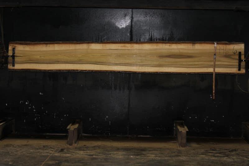 Poplar Slab 996-6, rough size  2″ x 15-18″ avg. 18″ x 12′ $600