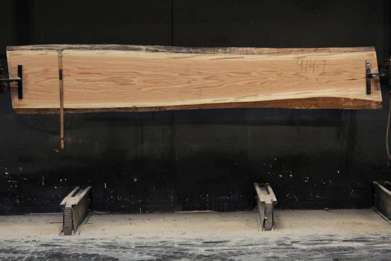 Red Oak Slab 914-1, rough size  2″ x 15-21″ avg. 18″ x 10′ $600