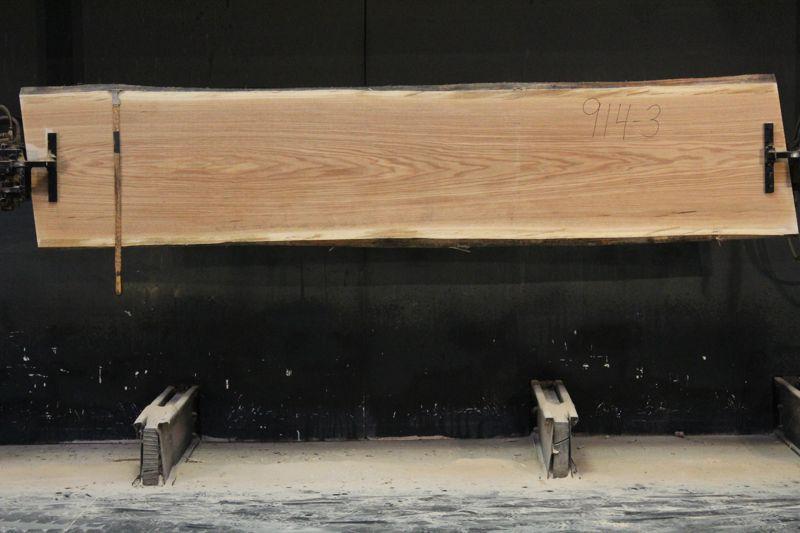 Red Oak Slab 914-3, rough size  2″ x 25-27″ avg. 26″ x 10′ $750