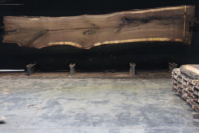 Walnut Slab 811-5 rough size 2.5″ x 30-42″ avg. 35″ x  18′ $2200