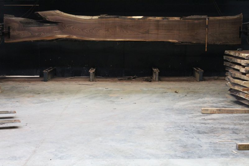Walnut Slab 861-9  rough size 2.5″ x 14-31″ avg. 24″ x  21′ $1850