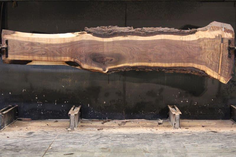 Walnut Slab 917-1 rough size 2.5″ x 16-38″ avg. 20″ x  12′ $900