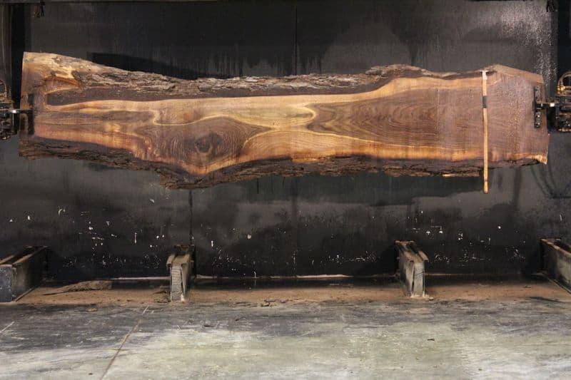 Walnut Slab 917-10 rough size 2.5″ x 10-26″ avg. 19″ x  12′ $850