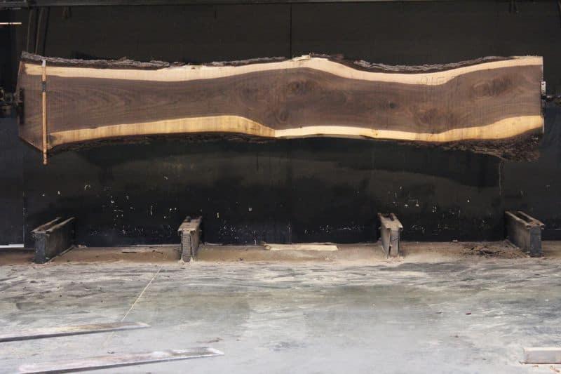 Walnut Slab 915-7, rough size 2.5″ x 21-29″ avg. 23″ x  15′ $1550