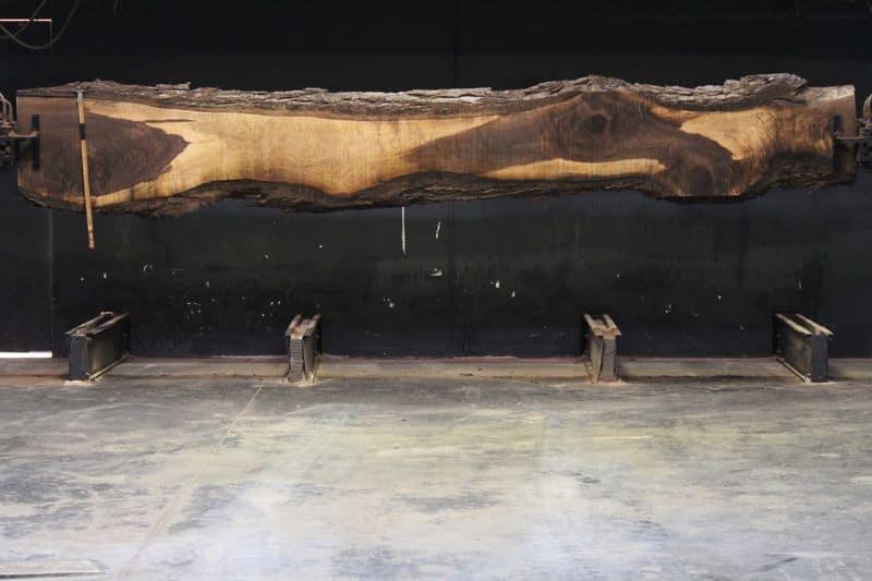 Walnut Slab 835-1, rough size 2.5″ x 11-24″ avg. 18″ x 15′ $1300