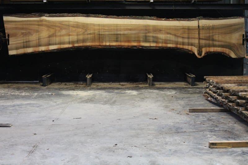 Cottonwood Slab 876-11, rough size 2.5″ x 29-44″ avg. 30″ x 21′ $1150