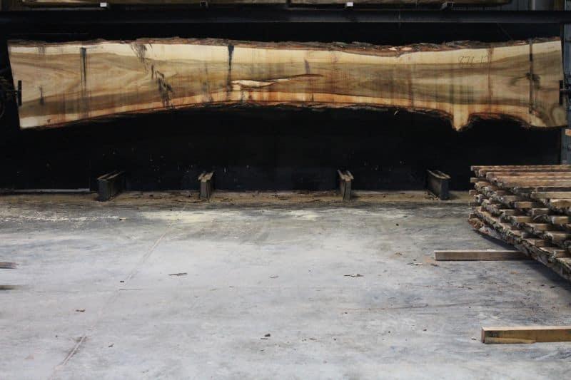 Cottonwood Slab 876-12, rough size 2.5″ x 23-41″ avg. 27″ x 21′ $900