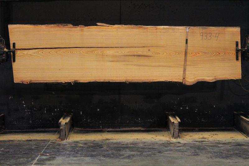 Cypress Slab 933-4, rough size 2.5″ x 32-37″ avg. 34″ x  11′ $850