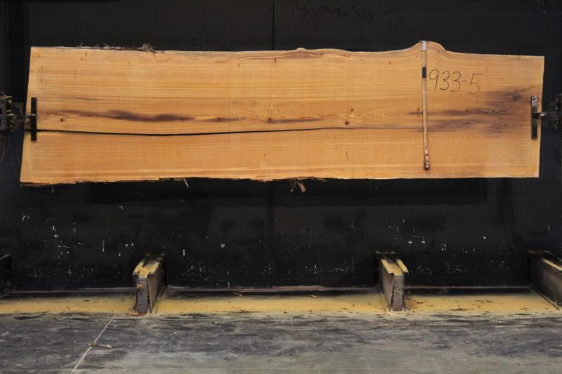Cypress Slab 933-5, rough size 2.5″ x 34-38″ avg. 35″ x  11′ $900