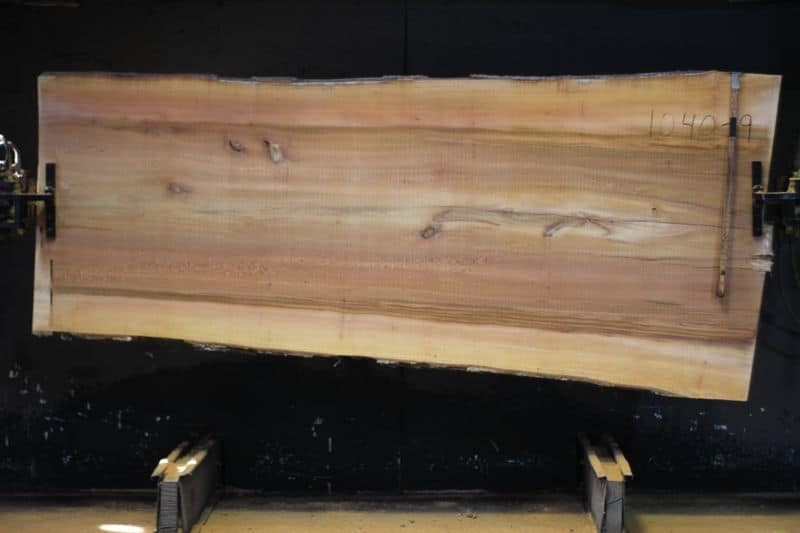Sycamore Slab 1040-9, rough size 2.5″ x 42-53″ avg. 46″ x 9′ $1000