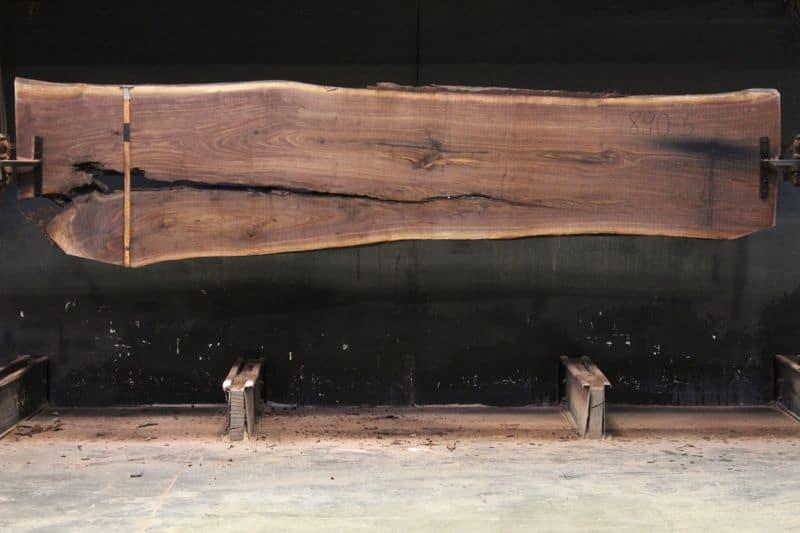 Walnut Slab 900-5, rough size 2″ x 27-36″ avg. 29″ x  12′ $975